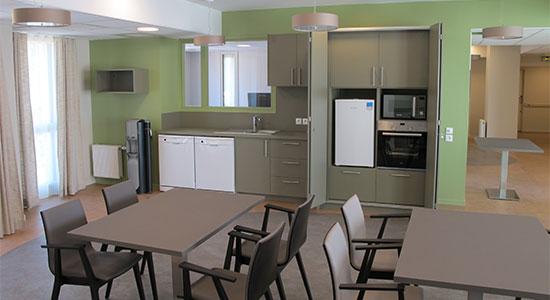 Athex - Agencement ehpad et maison de retraite - salle commune