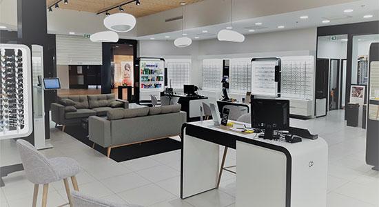 Athex - Agencement franchise - banque d'accueil