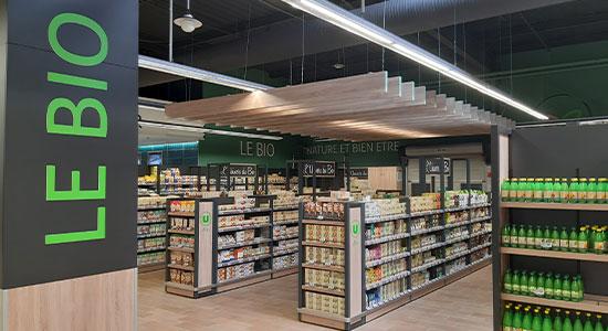 Athex - aménagement espace de vente - rayon merchandising