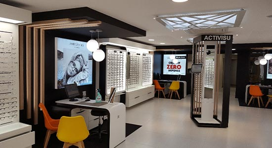 Agencement commerce, agencement magasin optique, Athex