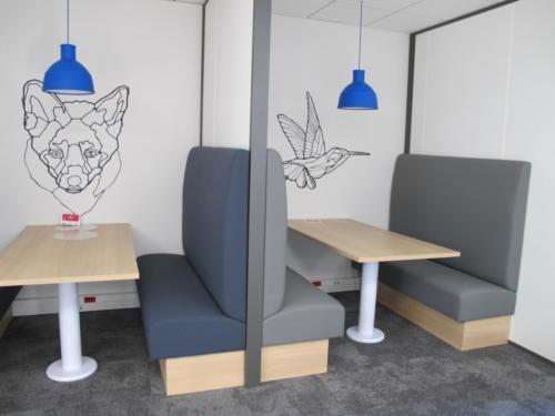 Espace de coworking - banquette