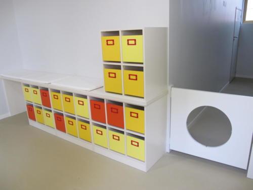 Espace de travail - casiers- vestiaires