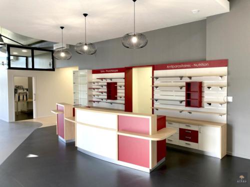 Clinique vétérinaire _ Espace accueil _ meuble de vente